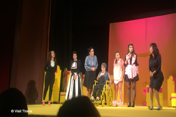 8 women's show at National Theatre of Albania