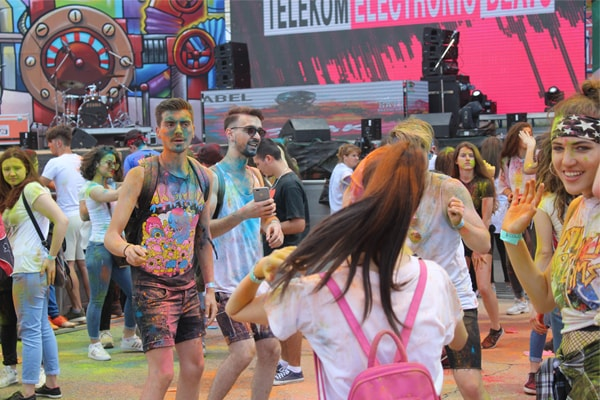 Colour Day Festival in Tirana Albania
