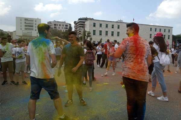 Alban Skenderaj Colour Day Festival in Tirana Albania