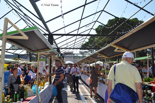 Farmers fair at Mother Teresa Square in Tirana