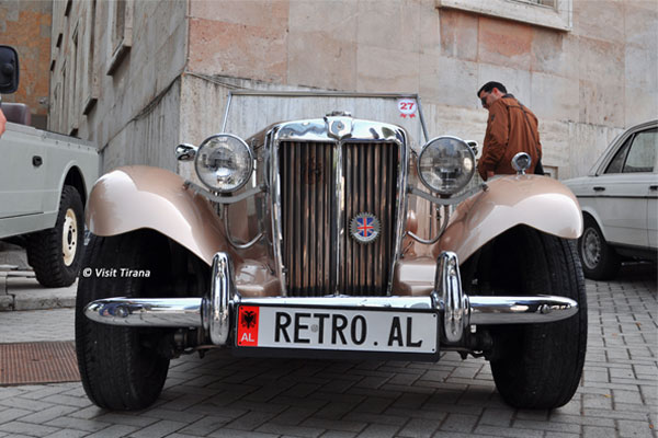 Retro Al- Classic and vintage vehicles exhibition in Tirana