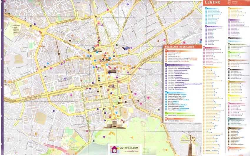 Download Tirana Tourism Map