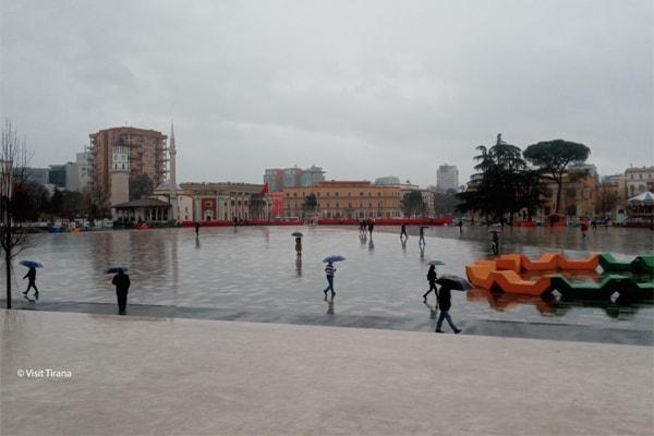 Tirana when it rains