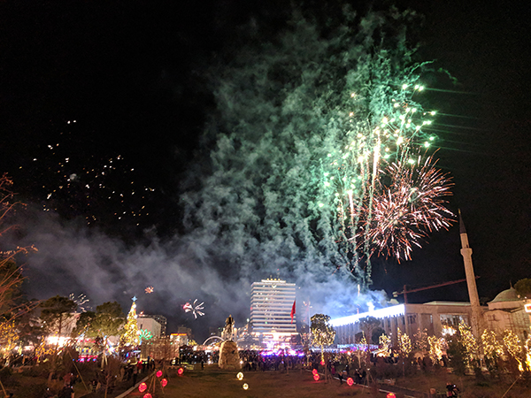 New Year in Tirana