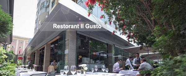 Il Gusto restaurant in Tirana, Albania