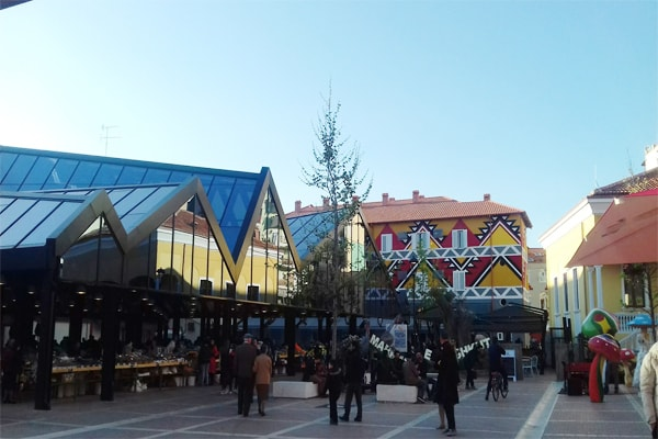 New Bazaar in Tirana