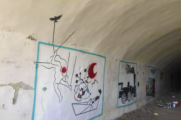 Remodeling the Albanian bunkers ruin into a cultural space