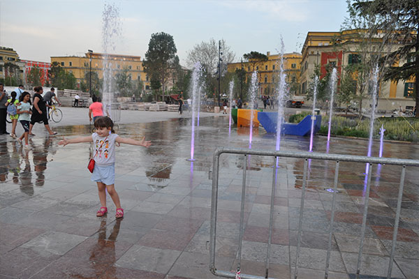 Summer in Tirana skanderbeg square