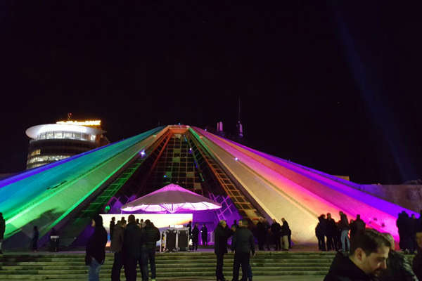 The Pyramid in Tirana