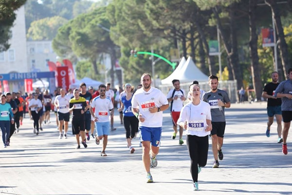 The winners of Tirana Marathon 2017
