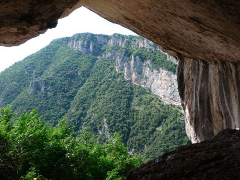 The cave of Pellumbas Tirana Albania