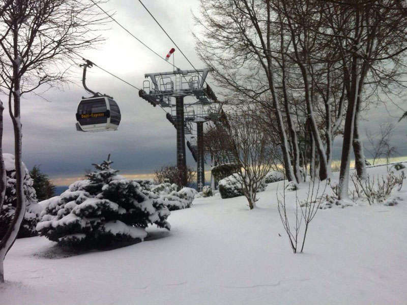 Cable car in Dajti Mountain