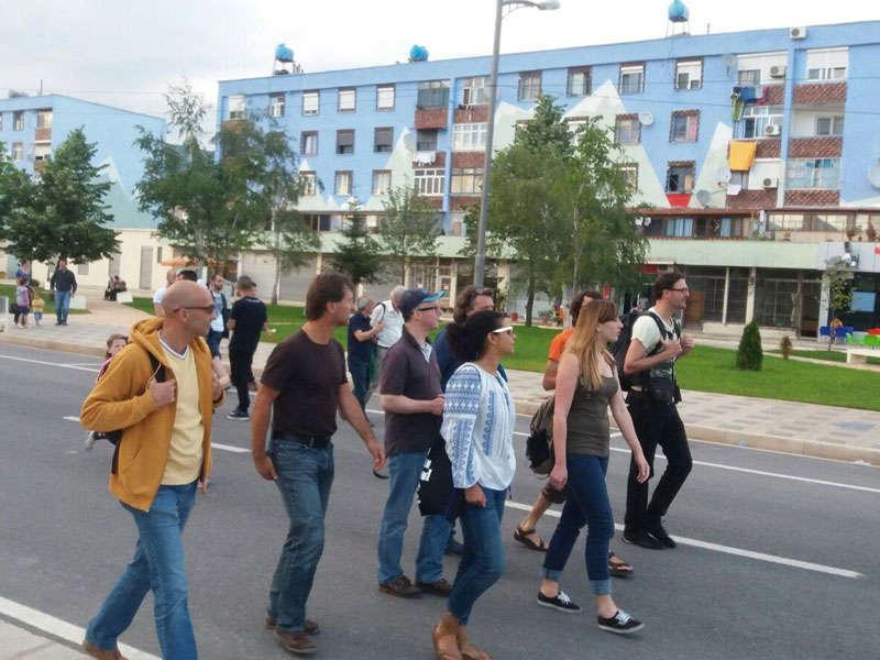 Tirana albania, by foot