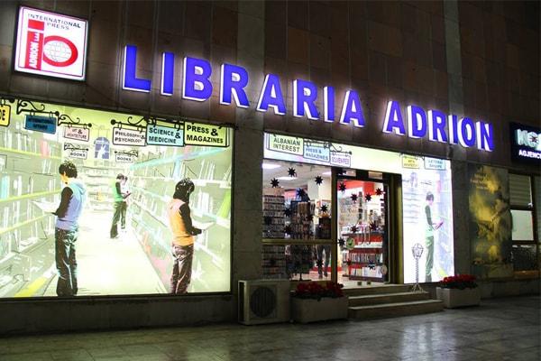 Adrion Ltd bookstore in Tirana, bookstore in Tirana, Tirana bookstores, Buy Albanian books in English, English books from Albania, libraries in Tirana, bookstores postcards Tirana