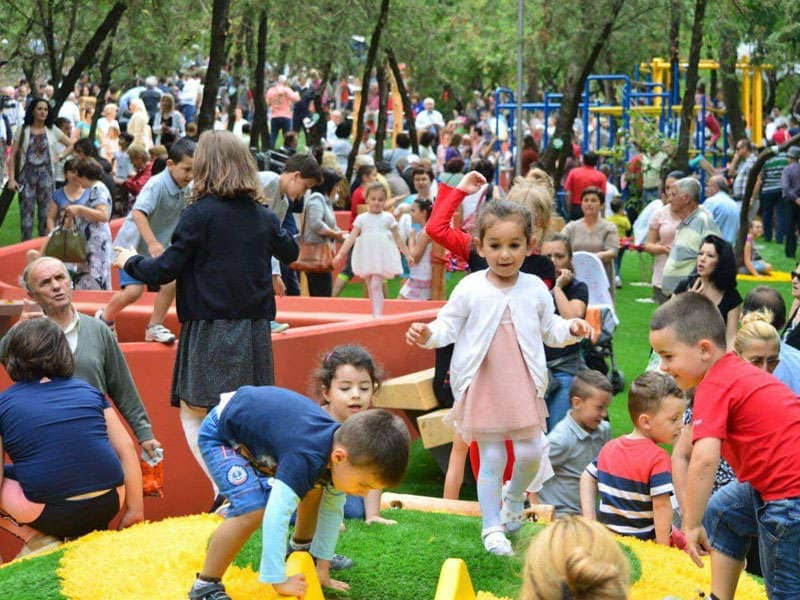 Playgrounds in Tirana