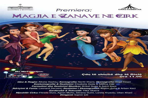 'The magic of Fairies' at the National Circus of Tirana, circus show in tirana, events in tirana