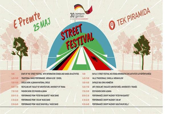 Street Festival at the Pyramid of Tirana