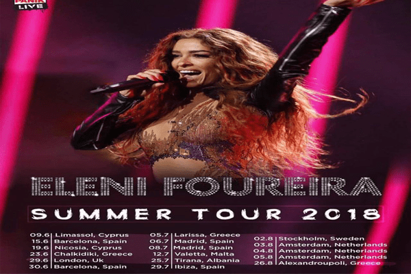 Eleni Foureira in Tirana