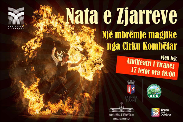 night of fires in tirana, circus show in tirana, circus in tirana, events in tirana