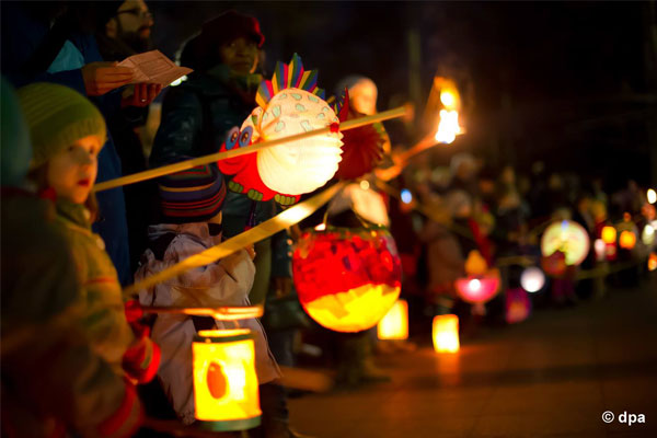 parade with lanterns in tirana, events in tirana