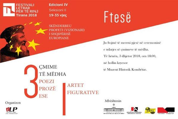 Festivali Letrar per te Rinj, evente ne tirane