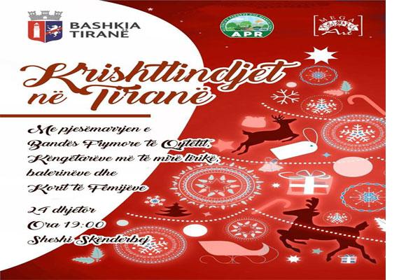 Koncerti i Krishtlindjeve te sheshi Skenderbej