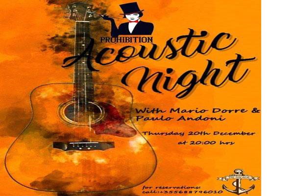 Acoustic night at Prohibition bar in Tirana