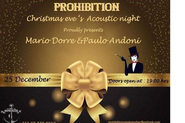Party i Krishtlindjeve në Prohibition Bar ne Tirane