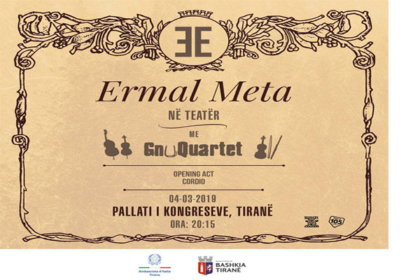 Ermal Meta concert at Palace of Congresses Tirana
