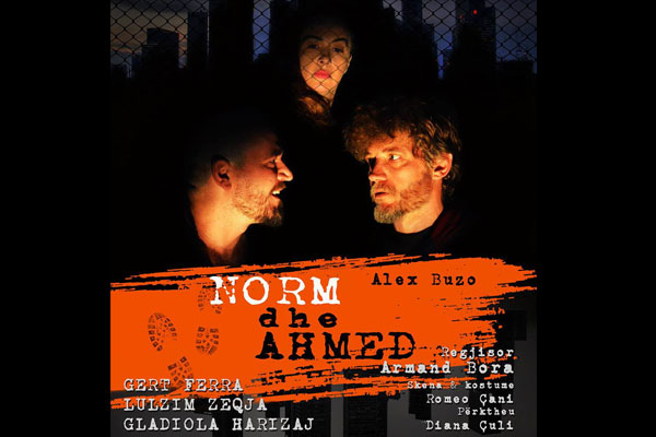 Norm and Ahmed theater show in Tirana Albania