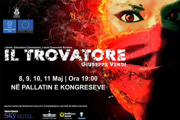 Opera Il Trovatore, Opera in Tirana, events in Tirana