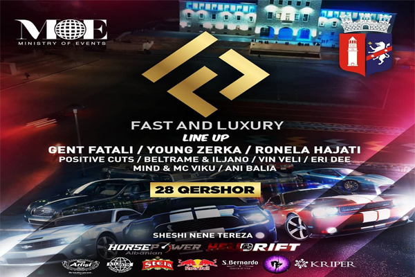Fast & Luxury car's parade and concert in Tirana
