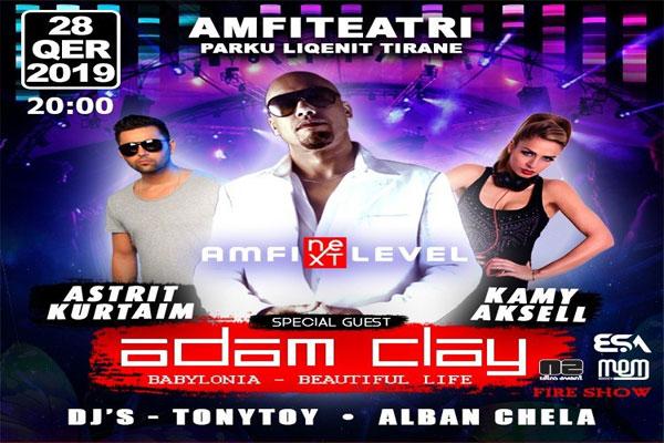 Koncert  Adam Clay në Amfiteatrin e Tiranës