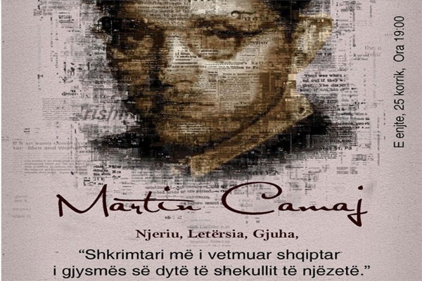 In memory of the famous albanian writer Martin Camaj