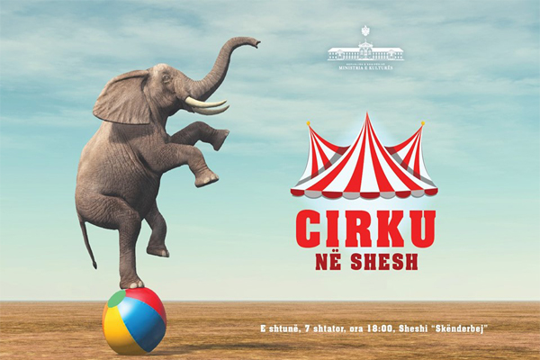 Circus show at Skanderbeg square Tirana