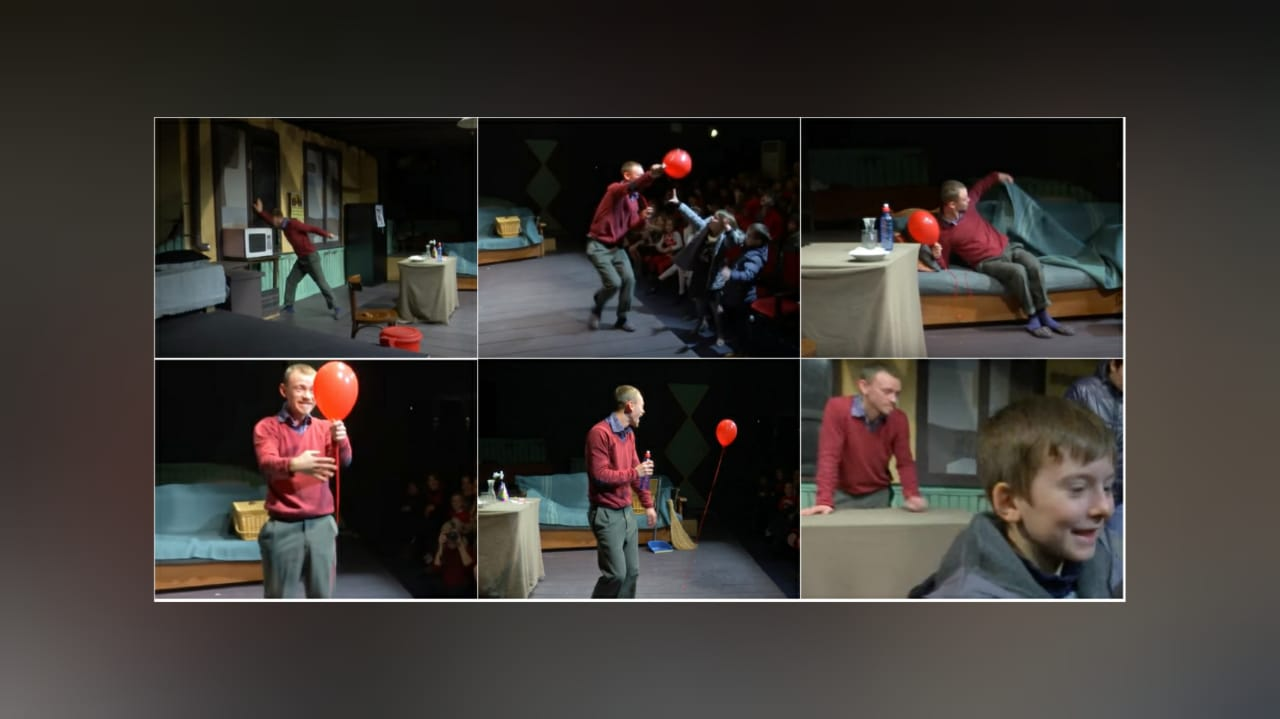 Red balloon, Albanian theater for children Tirana
