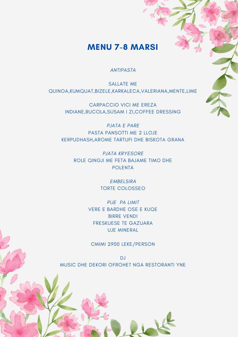 Oferta per 7-8 Marsin në Tiranë