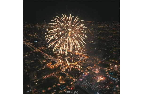 Tirana celebrated New Year with fireworks show