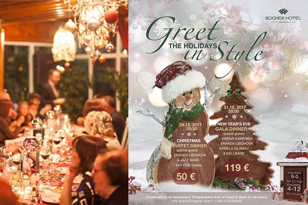 Where to dine for Christmas in Tirana