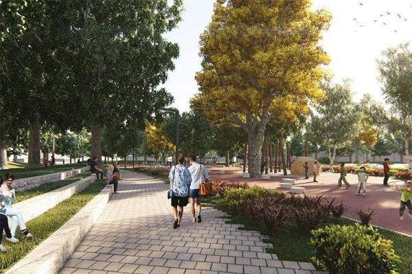 New project for the reconstruction of Rinia Park in Tirana