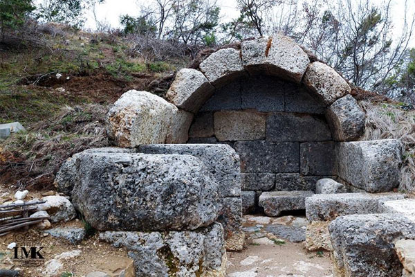 The monumental tomb of Persqopi close to Tirana is now restored