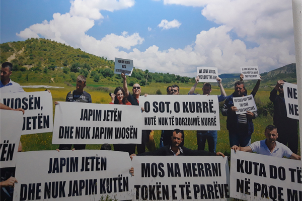 Protecting Vjosa River exhibition in Tirana