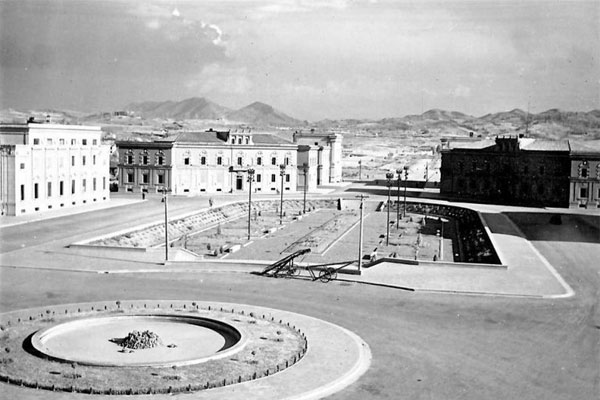 Tirana in the first year as Albanian Capital