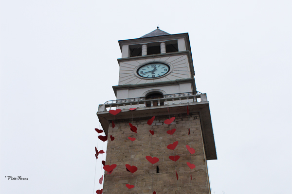 Valentins Day atmosphere in Tirana