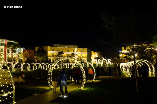 December in Tirana