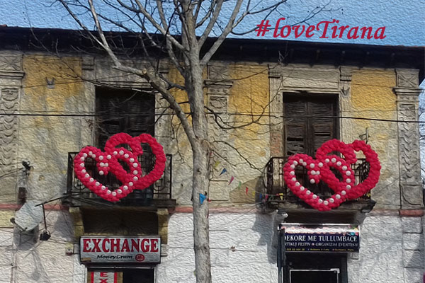 Valentine's Day in Tirana