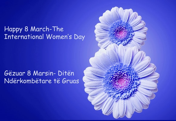 Womens Day in Tirana Albania