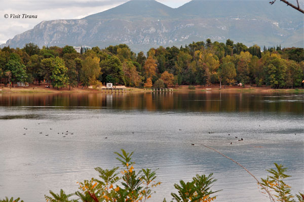 Grand Park Lake of Tirana, nature in Tirana, lakes in Tirana