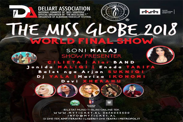 miss globe in tirana, event in tirana