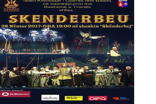 Opera Skanderbeg in Tirana Albania, opera shows in Tirana